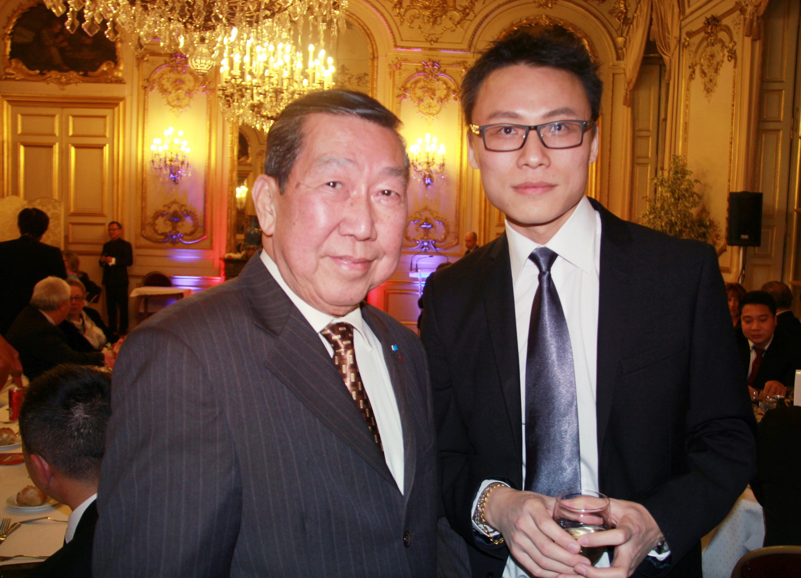 与法国前总统萨科齐的亚洲顾问何福基